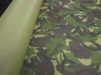 "5mts of 60"" wide camouflage cordura waterproof fabric"