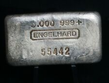 Vintage Engelhard 999 Five Ounces 5 oz Pure Fine Silver Bar - RARE - i