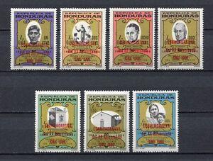 25086) HONDURAS 1967 MNH Neu Ovptd...ONU 1966 - 7v