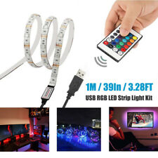 USB TV Backlight RGB LED Strip Light Kit Color Changing Battery Powered 50-200CM