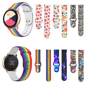 Silicone Watch Band Straps for Samsung Galaxy Watch 46MM 42MM Active 2 44MM