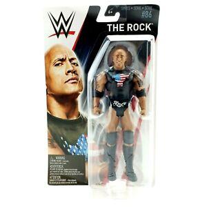 WWE The Rock Wrestling Action Figure Mattel Basic Series 86