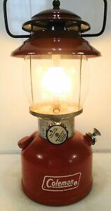 Vintage Coleman 200A Red Single Mantle Lantern April 1974