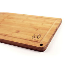 Bamboo Wood Chopping Cutting Board 2cm Thick w/ Drip Groove Pro Series 31X21cm