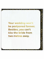 Wedding Postponed Gold Foiled Greetings Card Isolation Quarantine Funny Humour