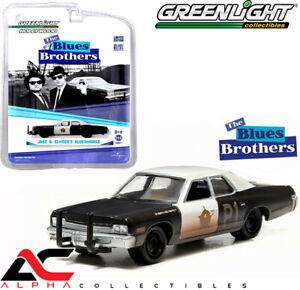 GREENLIGHT 44710C 1:64 1974 DODGE MONACO BLUESMOBILE THE BLUES BROTHERS 1980