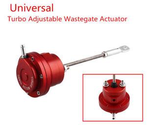 Auto Car Universal Aluminum Alloy Red Turbo Adjustable Wastegate Actuator & Rod