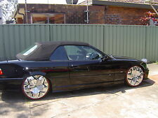 1994 -99 BMW E36 318i,320i BLACK TWILLFAST CLOTH  WITH GREEN TINTED REAR WINDOW