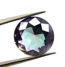 0.60 Ct Natural Rainbow Mystic Topaz 6 mm Round Cut Loose Gemstone Stone - M023
