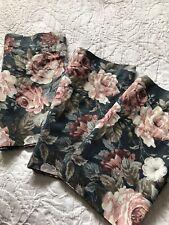 Vintage Cabbage Rose Floral Cotton Valances (3)