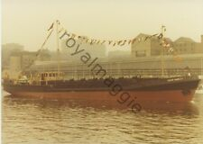 Colour print of sludge carrier David Marley on the River Tyne