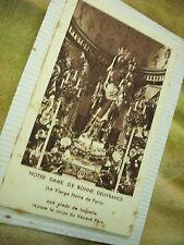 VINTAGE FOLDED CARD -N.D. GOOD  DELIVERANCE BLACK MADONNA (attached to album pg)