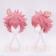 My Boku no Hero Academia Ashido Mina Short Pink Cosplay Costume Wig USA Ship