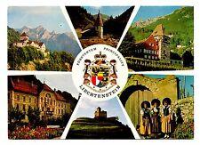 Gutenberg Castle Germany Postcard Coat of Arms Vaduz Steg Red House Nat'l Dress