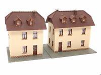2 x Siedlungshaus Vogelherd (Eisenbahnerhaus) BELEUCHTET Spur N D0292