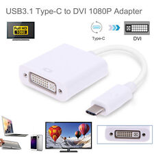 USB-C Type C USB 3.1 Male to DVI 1080P Adapter Converter Cable for Macbook HDTV