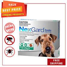 NEXGARD Nexguard for Dogs 10.1 - 25 Kg Green Pack 6 Chews Flea Tick Treatment