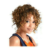 1PC Fashion Women Synthetic Capless Short Curly Blonde Brown Hair Wigs Hairpiece