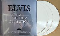 ELVIS PRESLEY LP x 3 The Platinum Collection WHITE Vinyl UK Triple Album SEALED