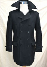 mens Stunning H&M WOOL reefer coat jacket military very thick warm chest 38/ M