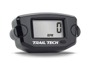 Trail Tech TTO Tach RPM Hour Meter Guage Meter Black Front Button 742-A00
