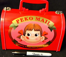 RARE PEKO COLLECTOR TIN MAIL BOX LIKE CONTAINER/TOTE from Japan