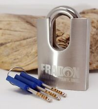 High Security Shrouded Padlock KD 3 Keys Outdoor Stainless Steel Fradon Lock