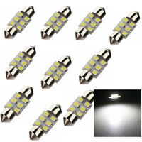 10x C5W 31MM 6 LED 3528 1210 SMD Xénon Dôme Feston Plaque Lampe navette Voiture