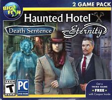 Haunted Hotel DEATH SENTENCE + ETERNITY Hidden Object PC Game + BONUS NEW