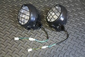 2 x NEW Headlights Yamaha Banshee lens bulbs lights grills 2002-2006 + COLLARS