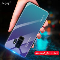 Luxury Gradient Tempered Glass Hard Case Cover For Samsung Note9 S9 A6 Plus 2018