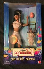 Vintage Disney Sun Colors Pocahontas Nakoma Barbie Doll 1995 Mattel 13331