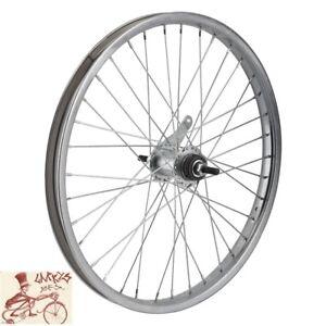 "WHEELMASTER  COASTER BRAKE 20"" x 1.75""  CHROME STEEL BICYCLE REAR WHEEL"