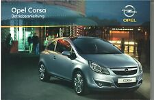 Bedienungsanleitung Opel Corsa D, Ausgabe 08/2009 (neu) #bac0809