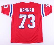 John Hannah New England Patriots Signed Autographed Throwback Jersey HOF