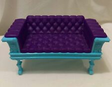 Monster High Deadluxe High School Replacement Purple Blue Tufted Sofa Couch