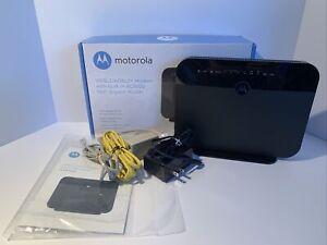 Motorola MD1600 VDSL2/ADSL2+ Modem and AC1600 WiFi Gigabit Router - Black