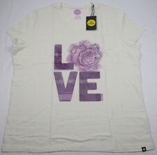 13cda07eb2e Life is Good Women s Sleep Tee T-Shirt Short Sleeve Pocket LOVE Ivory 2XL  NWT