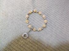 Charming Gems Pale Yellow Gemstone Beads Stretch Bracelet