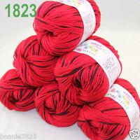 Sale 6 ballsx 50gr DK Baby Soft Cashmere Silk Wool hand knitting Crochet Yarn 23