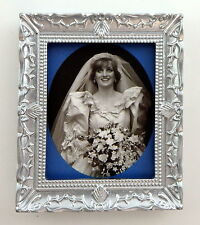 Melody Jane Dolls House Miniature Princess Diana Picture Painting Silver Frame