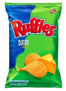 Ruffles Queso Cheese Flavored Sabritas Potato Chips 8 Oz. (Pack of 1)