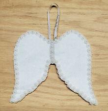 1 white felt angel wings ornaments