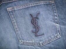 Yves Saint Laurent. YSL demin jeans. Blue. 100% cotton. Unworn.