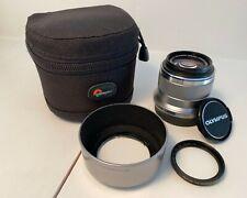 Olympus M.Zuiko digital prime lens 45mm F/1.8 excellent with case, hood, filter
