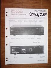 MANUAL DE SERVICIO Kenwood kx-3060 CASSETTE tapa, original