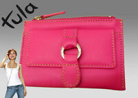New Authentic Vintage TULA  Leather COIN PURSE Shocking Pink