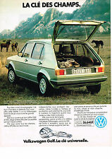 PUBLICITE ADVERTISING   1979   VOLKSWAGEN   GOLF GL50