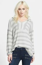 NWT Soft JOIE Markham in Dolphin Gray & Porcelain Hooded Knit Sweater XS $214