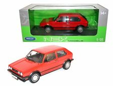WELLY 1/18 1983 VOLKSWAGEN GOLF 1 GTI DIECAST CAR RED 18039W-RD